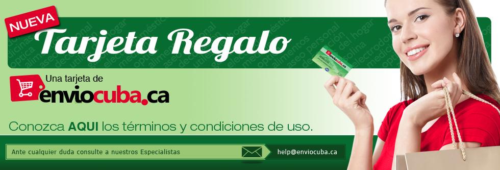 tarjetas de regalo para envios a Cuba