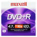 DVD+R Slim 16X Caja 5mm Disco Versatil Digtal Maxell